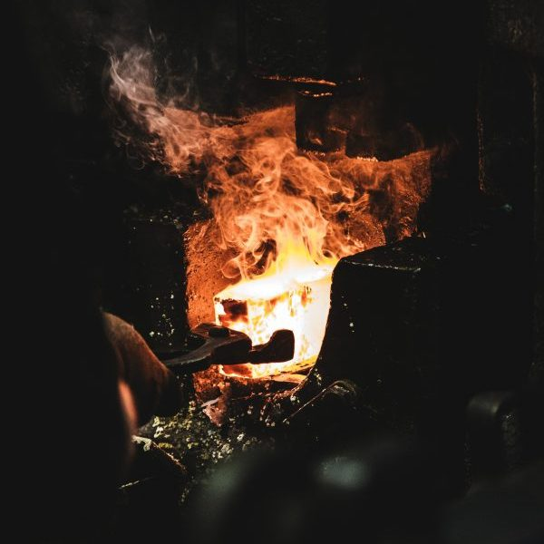 smelting an iron